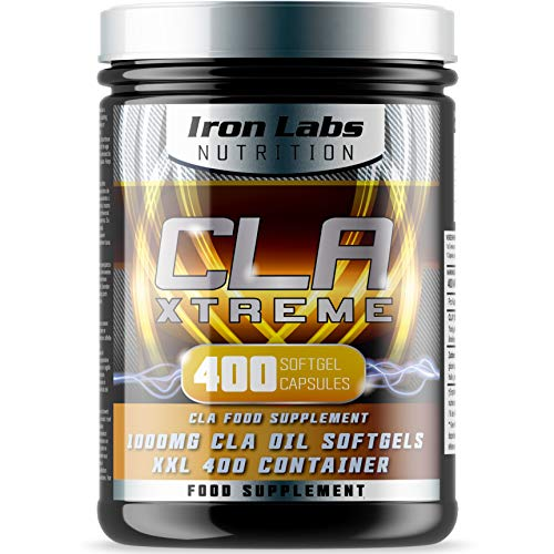 51gita3nB1L. SS500  - Iron Labs Nutrition, CLA Xtreme XXL - 1000mg x 400 Softgels - CLA supplement featuring 1000mg Conjugated Linoleic Acid…