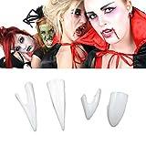#2: Iusun Gift Toys 4PCS Horrific Dress Vampire Teeth Halloween Party Dentures Props for Halloween Decor