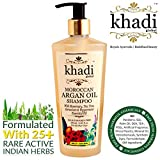 #7: Khadi Global Moroccan Argan Hair Shampoo Rosemary Tea Tree Geranium & Peppermint Essential Oil Infused For Healthy Hair & Scalp - 250ml