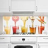 Bilderwelten Spritzschutz Glas - Frisch gepresst - Panorama Quer Wandbild Küchenrückwand Küchenspiegel Küchenspritzschutz Glasrückwand Küche Spritzschutz Herd, Größe HxB: 40cm x 100cm