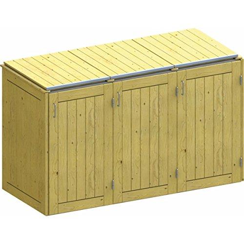 BINTO Nadelholz Mülltonnenbox, Müllbox System 5