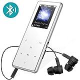 8GB MP3 Player Bluetooth Tragbarer Lossless Sound Berührungstasten 1.8 Zoll OLED Musik Player MP3 Spieler 80 Stunden Wiedergabe mit FM-Radio und Diktiergerät, Unterstützung erweiterbar bis zu 64 GB (Silber)