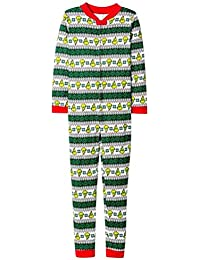 ISSHE Pijamas de Navidad Familia Adultos Pijama de Una Pieza Familiares Manga Larga Hombre Mujer Pijamas Enteros Para Niños Niña Chica Trajes…
