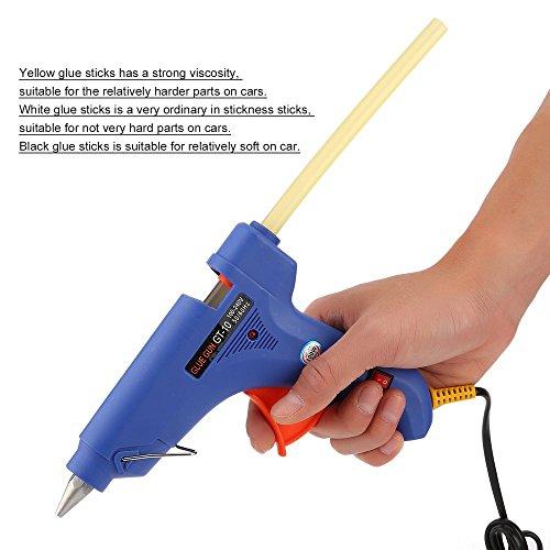 Dailyinshop 30pcs Dent Grêle Réparation Outils Colle Bâtons de Voiture Corps sans Peinture Dent Réparation extracteur (Couleur: Noir et Blanc et Jaune)