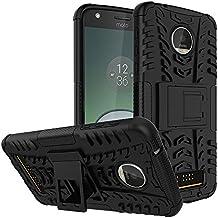 Fancy Interio Hybrid Military Grade Armor Kick Stand Back Cover Case for Motorola Moto Z Play