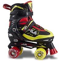 Fila Skates Joy, Pattini A Rotelle Bimbo, Nero/Rosso/Lime, 31-34