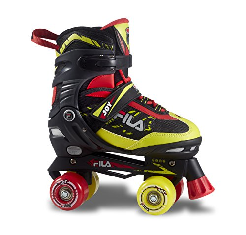 Fila Skates Joy, Pattini A Rotelle Bimbo, Nero/Rosso/Lime, 35-38
