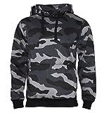Kapuzenpullover Hoodie Workerhoodie kapuzen Sweatshirt - Herren - Größe XS-5XL - 380g hochwertig und sehr soft - Original von ROCK-IT - camouflage Schwarz/Blau X-Large