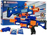 Große Pistole / Gewehr 7055 auf die Pfeile - Barricade RV-10 mit 20 Pfelie - Pistole für Kids - Pistole - Blaze Storm