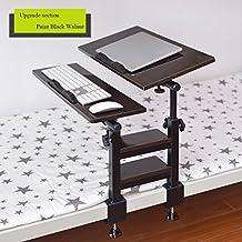 ERRU-mesa de ordenador portátil Uso de tablas portátil en la cama plegable Dormitorio Artefacto perezoso Escritorio mesa de estudio Dormitorio (4 colores) tablas de la computadora portátil ( Color : WHITE MAPLE )