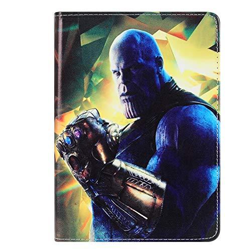 Zakao Schutzhülle für iPad Mini 3 2 1, Zakao Cartoon Thanos niedlicher Klapp-Ständer, PU-Leder, leicht, stoßfest, kindersicher, für Apple iPad Mini 1 2 3 (Nicht passend für Mini 4) #33 (Kitty Ipad Cover 3 Mini Hello)