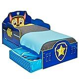 Paw Patrol Chase Toddler Bed mit Aufbewahrung + komplett Hängekorb Matratze