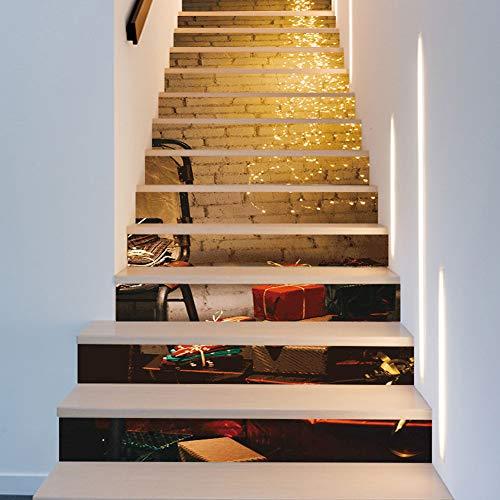 Wallpaper FANGQIAO SHOP 13 PieceLate Herbst Alten Stil Treppe Aufkleber PVC Entfernbare Wandaufkleber Kunst Decor Wandtuch 18 * 100 cm