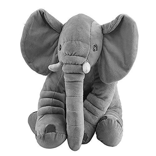 Niedlichen Elefanten Stofftiere Schön Tier Plüsch Spielzeuge Pals Kissen Plüsch Spielzeug für Kinder - Grau