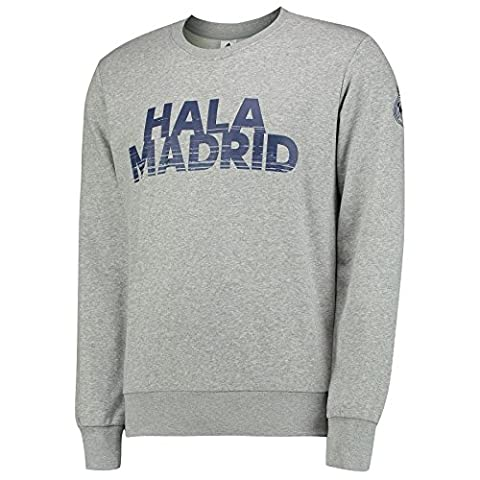 adidas Real Sweat-Shirt Homme, Gris, FR : XL (Taille Fabricant : XL)