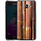 Samsung Galaxy A3 (2016) Housse Étui Protection Coque Bambou Tuyau en bambou Marron