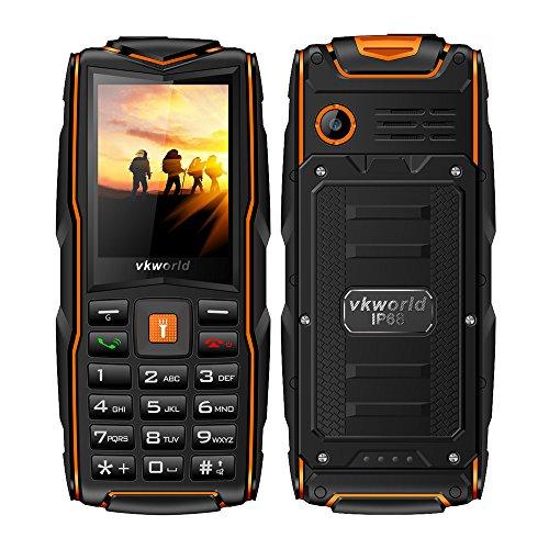 Smartphone VKworld Stone v3 Telefon 2,4-Zoll-Display, IP68 wasserdicht, Staubbeständigkeit, bruchfest (große SIM-Karte mit großer Taste, 2MP-Kamera) (Orange)