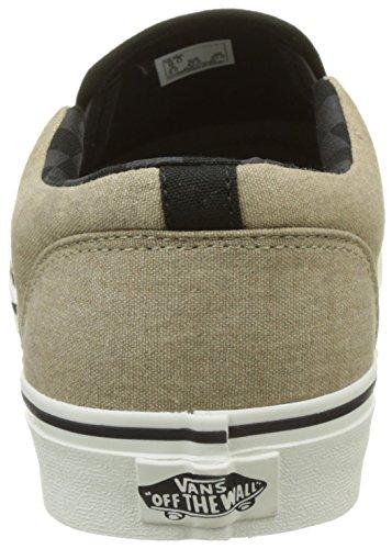 Vans Mn Asher, Sneakers Basses Homme Beige (Washed Canvas Cornstalk)