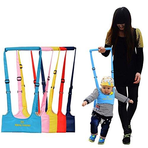 Reizbaby Asistente de Caminar Bebe Nino del Bebe Aprenda a Caminar Cinturon Andador Asistente Arnes de Seguridad (rosa)