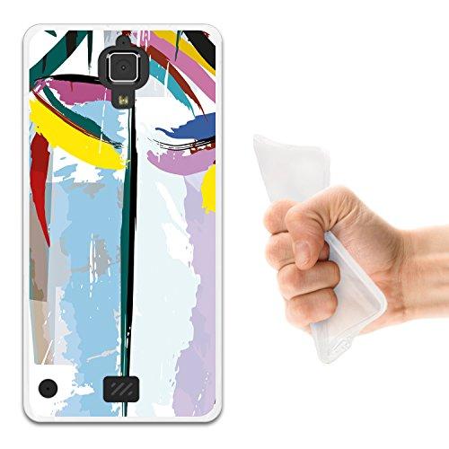 WoowCase Hisense C20 King Kong II 4G Hülle, Handyhülle Silikon für [ Hisense C20 King Kong II 4G ] Abstrakte Farben Muster 2 Handytasche Handy Cover Case Schutzhülle Flexible TPU - Transparent