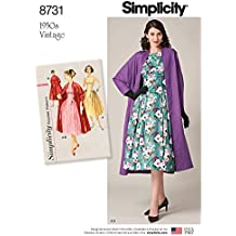 Simplicity Patrones US8731H5 Vestidos, H5 (6-8-10-12-14