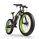 RICH BIT Bicicletta elettrica da uomo E-bike Fat Snow Bike 1000W-48V-17Ah Li-batteria 26 * 4.0 Mountain Bike MTB Shimano 21-velocità Freni a disco Intelligent Electric Bike