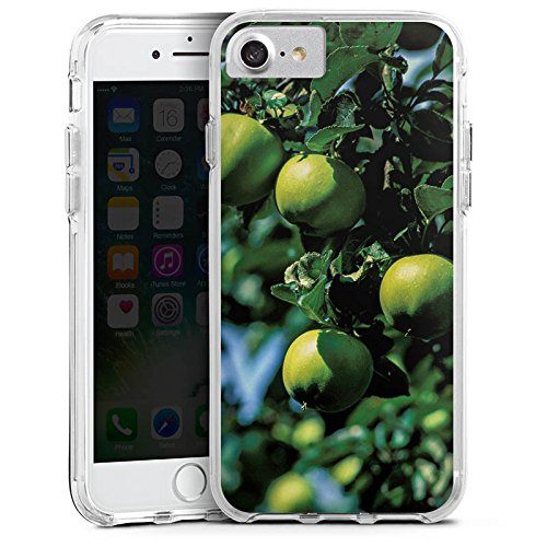 Apple iPhone 7 Plus Bumper Hülle Bumper Case Glitzer Hülle Pommes Tree Baum Bumper Case transparent