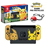 Nintendo Switch Let's Go Pikachu Limited Edition Console with Joycon, Pre-Installed Pokémon: Let's Go Pikachu + Pokeball Plus Controller [Importación inglesa]