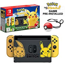 Nintendo Switch Let's Go Pikachu Limited Edition Console with Joycon, Pre-Installed Pokémon: Let's Go Pikachu + Pokeball Plus Controller