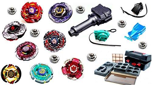 Kampfkreisel Mega Set 8 XXXL Kampfkreisel + SAMMELBOX Metal Fusion 4D SET für beyblades BOX-1