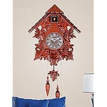 SUNQIAN-Reloj de cuco de madera maciza de estilo europeo, Sala Infantil Decoracion originalidad cronometraje electrónico despertador,Un