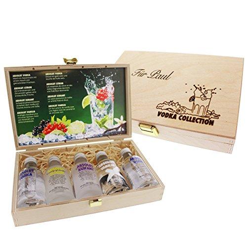 Absolut Vodka Geschenk-Collection mit Ihrer individuellen Gravur - Das persönliche Geschenk mit Gravur