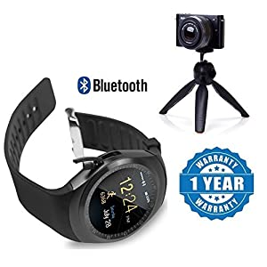 Drumstone Bluetooth Smart Watch Smartwatch with SIM Card Slot Support with Mini Tripod Cell Phone Camera Holder