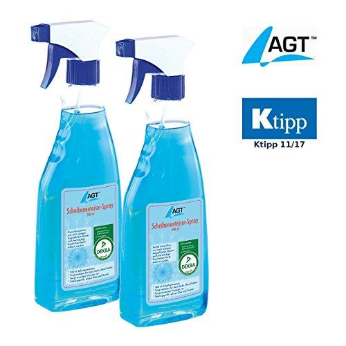 AGT Enteiser: Scheibenenteiser Doppelpack, 2 x 500 ml (Scheibenfrostschutz)