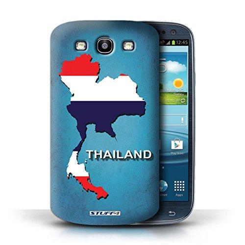 Kobalt® Imprimé Etui / Coque pour Samsung Galaxy S3/SIII / Afrique du Sud/Afrique conception / Série Drapeau Pays Thaïlande/Thai