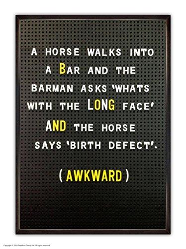 Funny Humorvolle 'Pferd lang Face' schwach gefüttert A6Notebook -