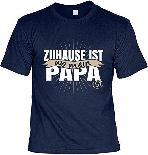 tolles Vatertagsgeschenk Papa T-Shirt Geschenk Geburtstag Weihnachten Zuhause ist wo mein Papa ist Navyblau