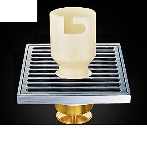 Drain de plancher grand déodorant de cuivre/Salle de bain salle de bain lave linge s'égoutter-C