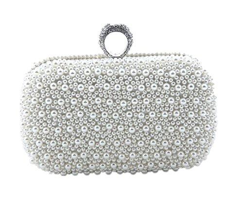Mode Diamanten Ring Quadratische Perle Tasche Abendtasche Glitzernd Party Bag (Hochzeit Ring Aufnahmen)