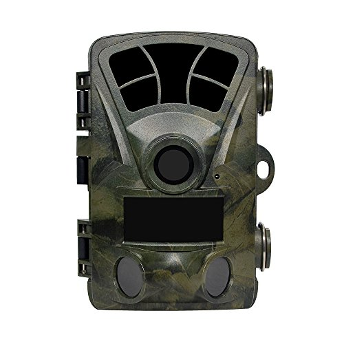 lenpaby Jagd Trail Kamera 2NO Glow Super Power IR LEDs 6,1cm Bildschirm 16MP 1080P schleichendes waterproofwildlife Kamera Motion aktiviert Night Vision 130Grad Weitwinkel 0.2s Schnell Trigger 82FT Night Vision Wasserdicht Design für Wildlife Jagd und Home Security