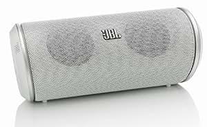 JBL Flip Wiederaufladbarer Tragbarer Bluetooth Wireless Lautsprecher mit UK/EU Netzadapter und Integriertem Mikrofon Kompatibel mit Smartphones, Tablets und MP3 Geräten einschließlich iPhone 4/4S/5/5S/5C/6/6 Plus, iPad 2/3/4/Air/Mini, iPod Nano 7. Generation, iPod Touch 5. Generation, Samsung Galaxy S2/S3/S4/S5, Galaxy Note 2/3, Galaxy Tab 2/3/4, Xperia Z1/Z2, HTC One/One M8 und Google Nexus 5/7/10 - Weiß