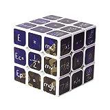 H-O Fórmula matemática Cubo 3x3x3 Suave Velocidad Práctico Rompecabezas Giratorio Herramienta de Aprendizaje Herramienta de Aprendizaje Herramienta educativa,White
