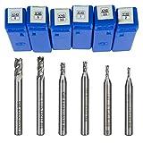Fräser, 6HSS Aluminium CNC-gerade Schaft 4Flöte Schaftfräser Holz Cutter Bohrer Bit Werkzeug 2/2,5/3/3,5/5/6