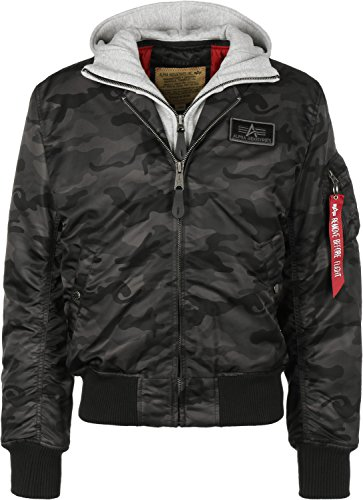 Alpha Industries Herren Jacken / Bomberjacke MA-1 D-Tec Flight camouflage S