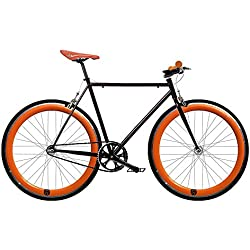 Bicicleta FIX 2 naranja. Monomarcha fixie / single speed. Talla 53