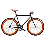 Bicicleta FIX 2 naranja. Monomarcha fixie / single speed. Talla 56