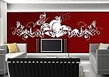 Wandtattoo wandaufkleber Aufkleber Wandsticker wall sticker Wohnzimmer Schlafzimmer Kinderzimmer KÜCHE 30 Farben zur Wahl Liebe Fee Herz Schmetterling wsh02(010 weiss, Größe3:ca.200x58cm )