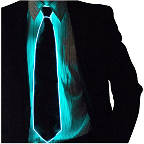 BIEE, 1 stücke Unisex Herren Frau Leuchtende Führte Fliege Leuchten Bowtie für Party - LED Leuchten Krawatten Kostüm Zubehör für Neue Jahre Rave Party Leuchten Krawatte(Eine Farbe) (Neue Jahre Party Kostüm)