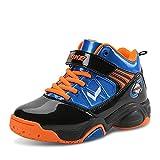 ASHION Chaussure Basket Enfant Garcon Boys Basketball Shoes Breathable Crashproof Kids Sneakers (33 EU, Blau)
