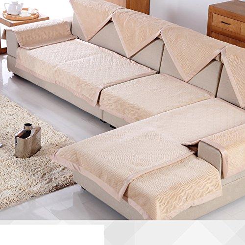 breve peluche divano cuscini/ cuscino/Autunno/inverno stagioni telo copridivano/Semplice moderna imbottita antiscivolo divano asciugamano-C 90x180cm(35x71inch)